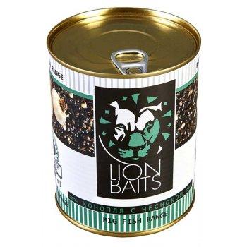 """Lion Baits Hempseed with Garlic """"семена конопли с чесноком"""" - 900 мл"""
