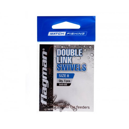 Фидерный двойной вертлюжок Flagman Double Link Swivels №8 5шт