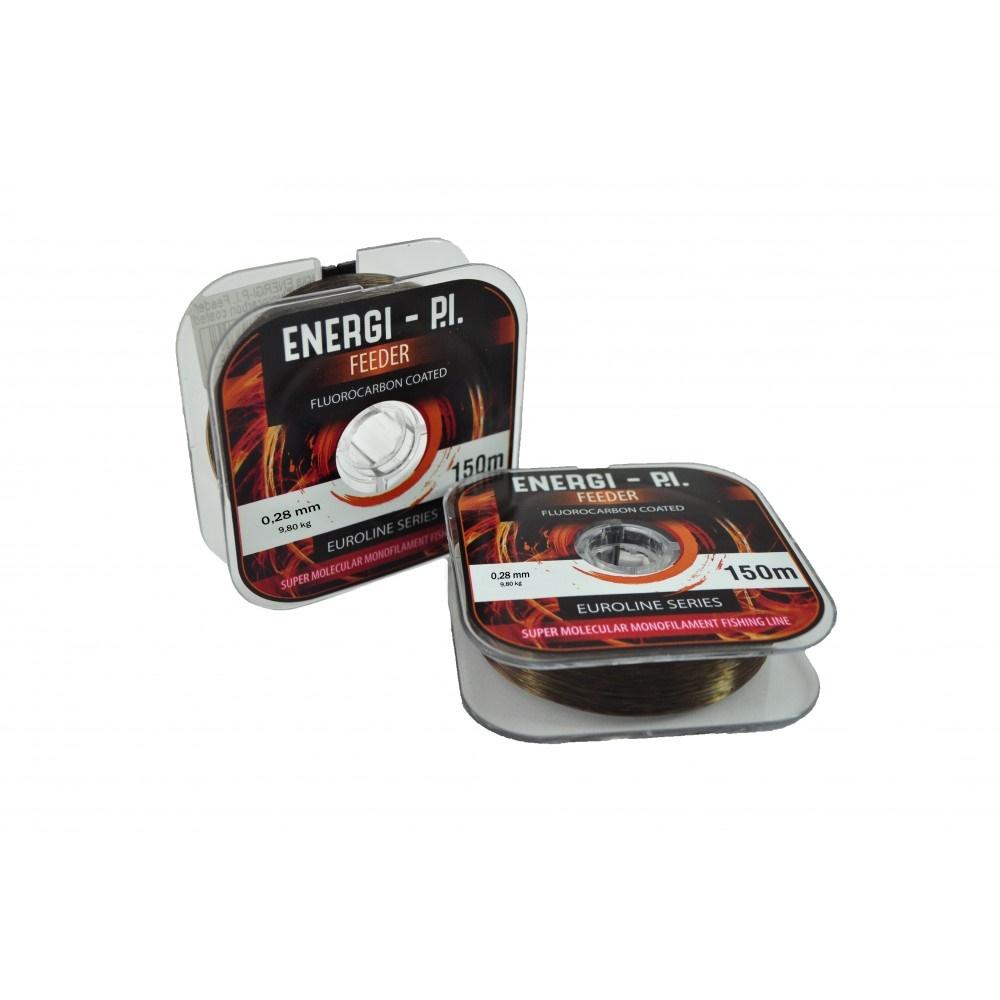 Леска ENERGI-P.I. Feeder 150 М (Fluorocarbon Coated) (0,35) цвет темно-бронзовый