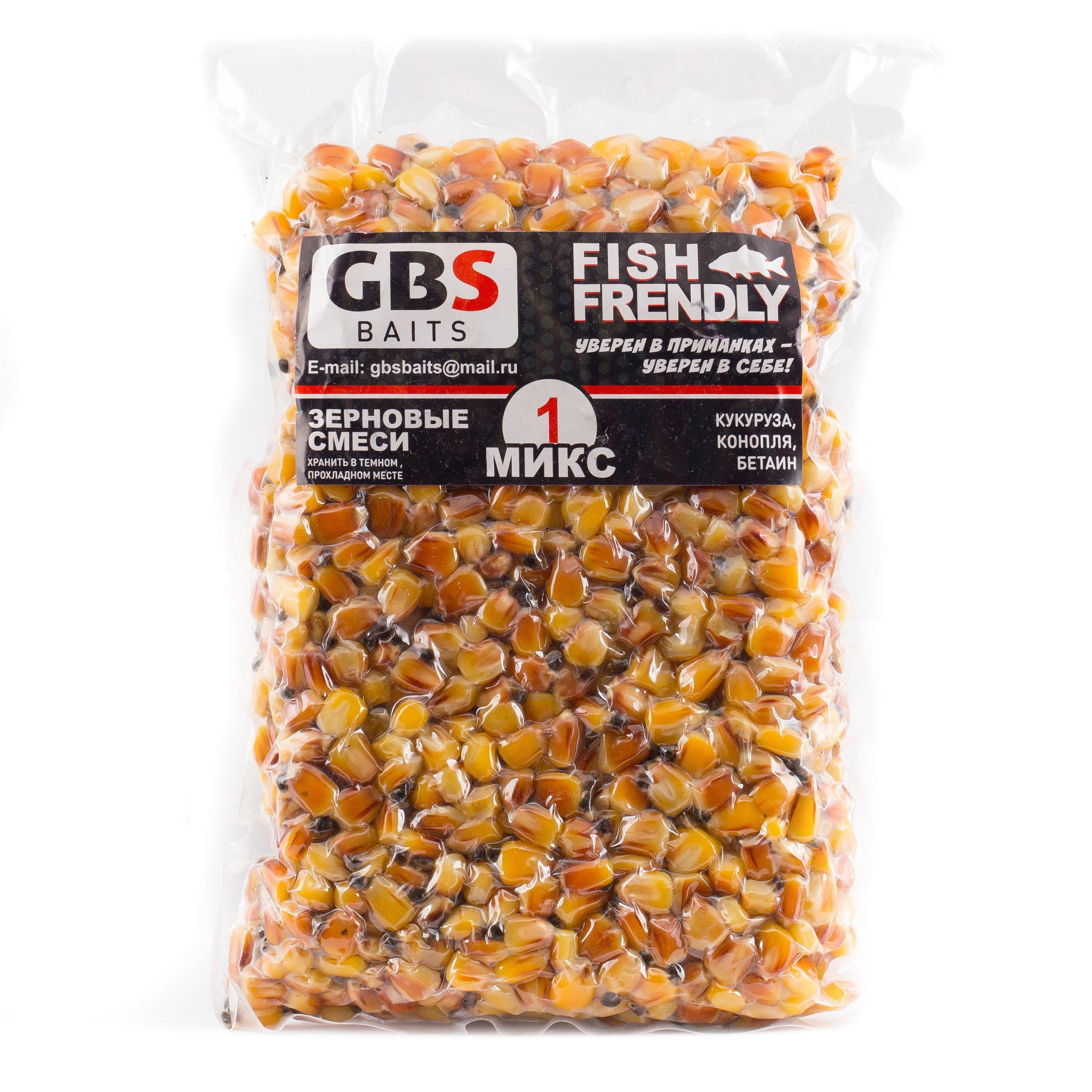 Зерновая смесь  GBS кукуруза, конопля, бетаин