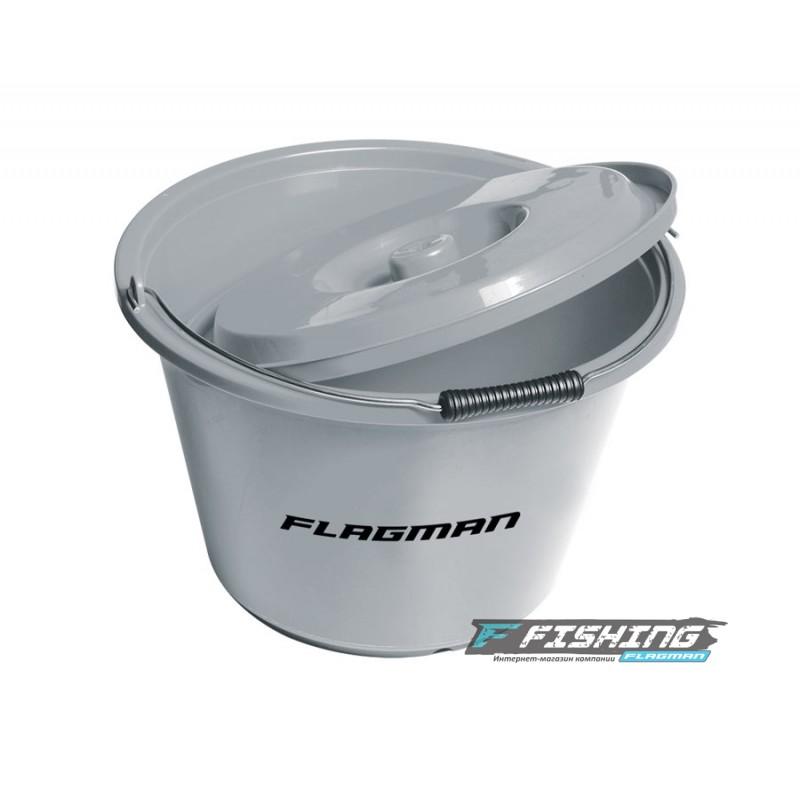 Ведро для прикормки с крышкой Flagman 12л