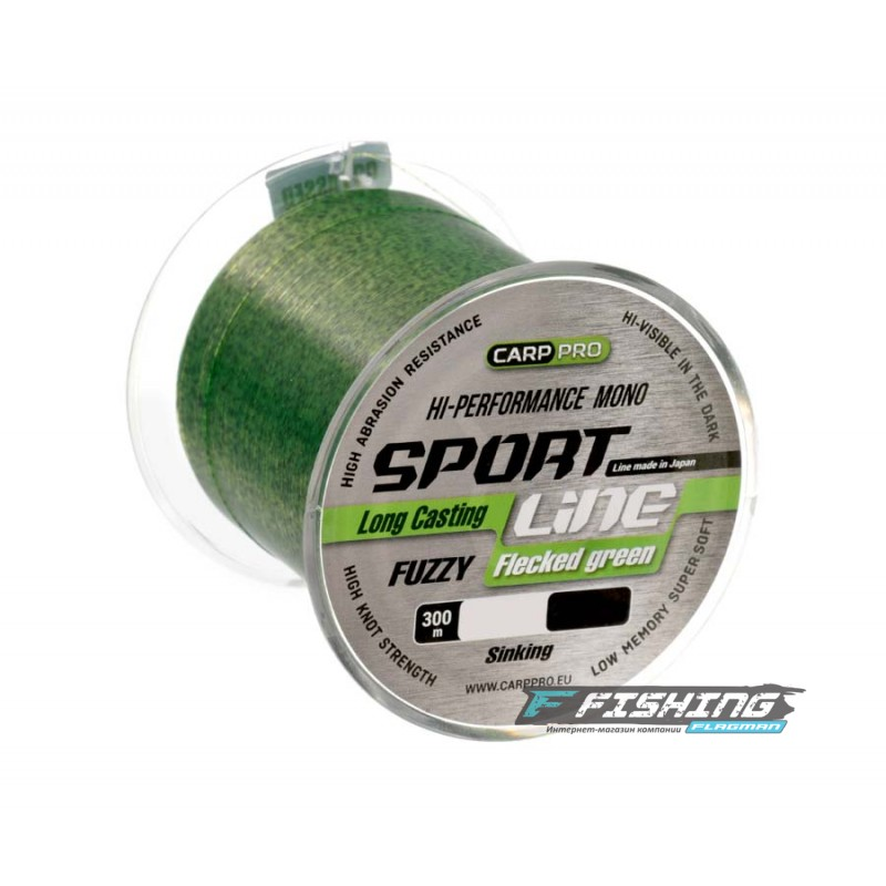 Леска Carp Pro Sport Line Flecked Green 300м 0.310мм