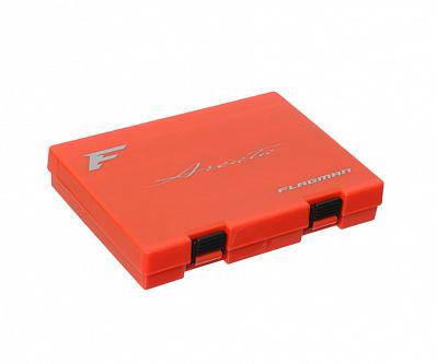 FLAGMAN Коробка для блесен Areata Spoon Case оранжевая\черная 200x140x35мм