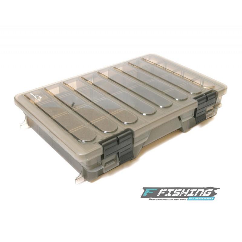 Коробка Flagman пластиковая 2-х полочная большая
