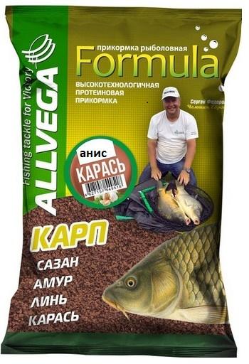 Прикормка ALLVEGA Formula Карась Анис  0,9 кг