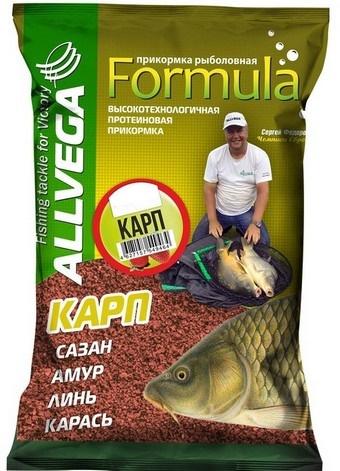 Прикормка ALLVEGA Formula Feeder Black  Для осторожной рыбы  0,9 кг